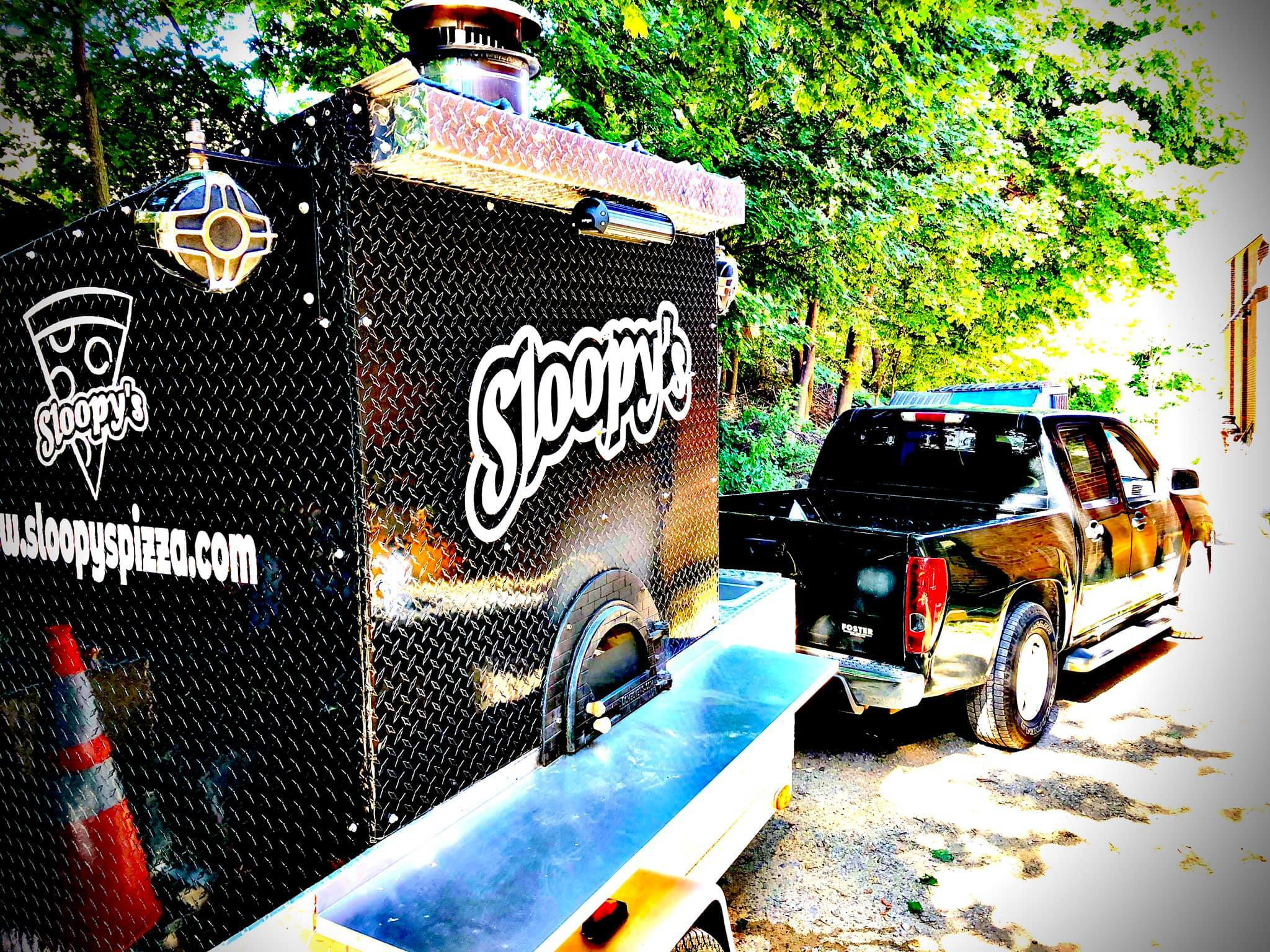 the sloopy's mobile pizza oven