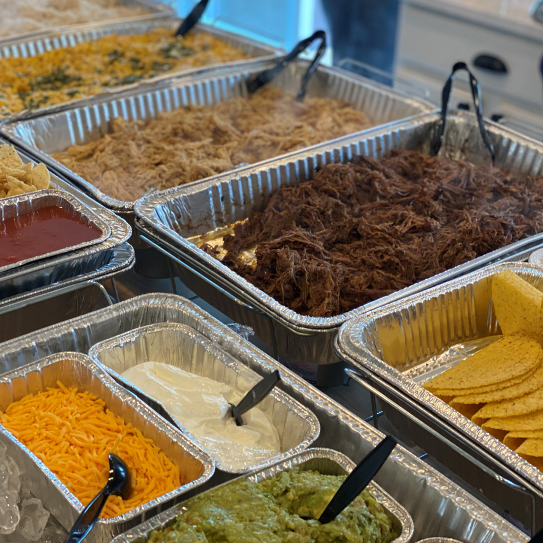 mexican and taco catering station